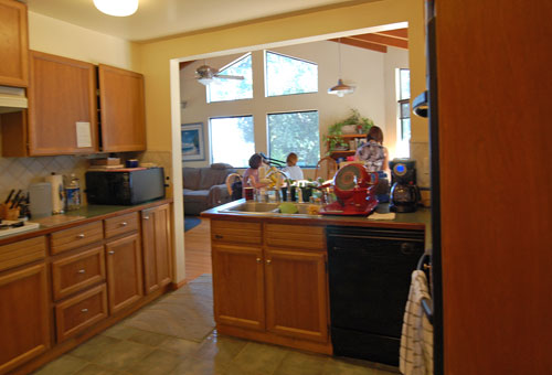 Sierra Madre kitchen before home staging remodel