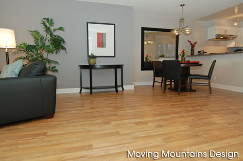 Los Angeles home staging contemporary condo dining room
