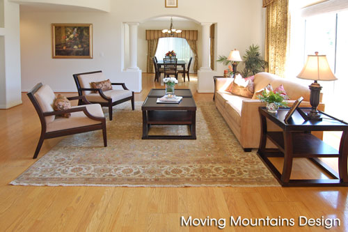 Living room after home staging Hacienda Heights