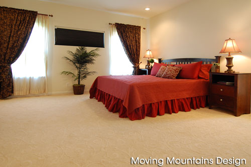 Master bedroom after home staging Hacienda Heights