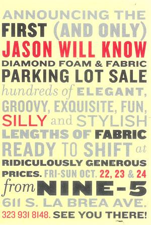 Designer Diamond Foam and Fabric Sale