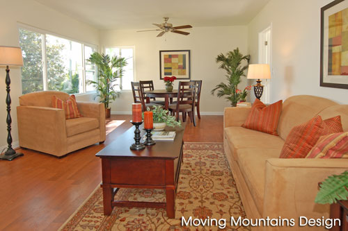Monterey Park home staging livingroom
