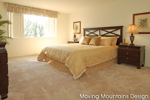 Bel Air Condo Master Bedroom After Home Staging