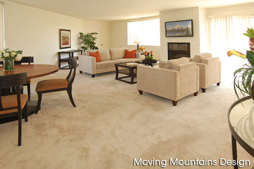 Bel Air Condo Living Room After Home Staging