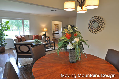 Dining Room & Living Room After Home Staging