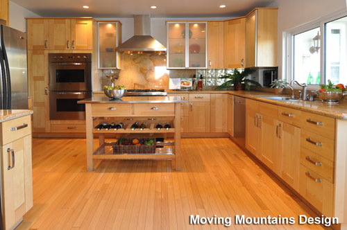 Kitchen in Hollywood Hills home after los angeles home staging