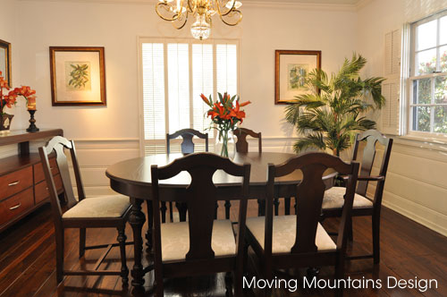San Marino home staging dining room