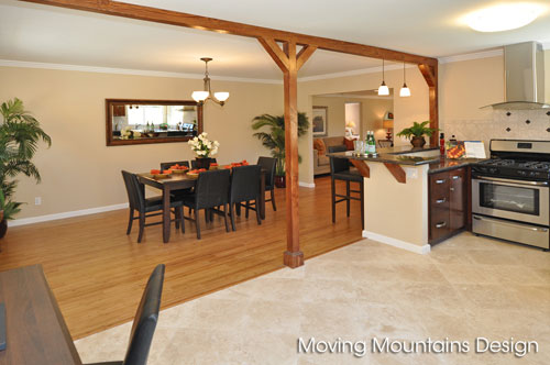 Kitchen and Dining Room Altadena Home Staging