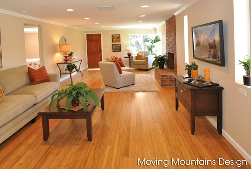 Altadena home staging livingroom