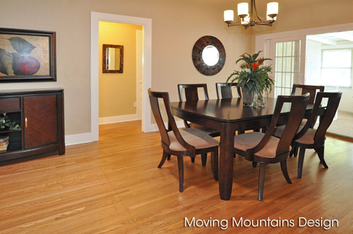 Dining room home staging in Pasadena
