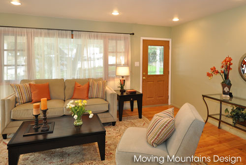 Photo of La Crescenta home staged living room after staging
