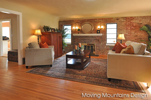 Pasadena home staging livingroom
