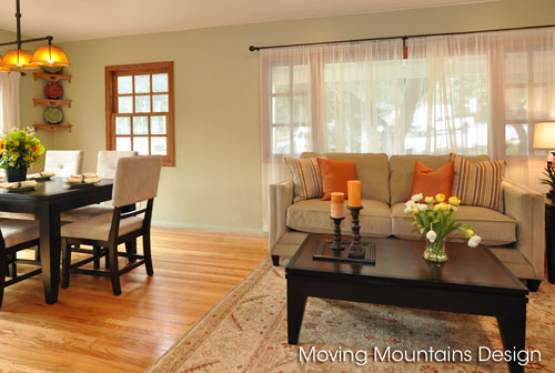 Living Room and Dining Room La Crescent Home Staging