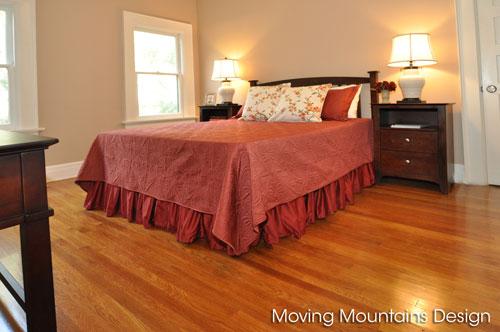 Master bedroom after home staging