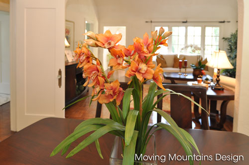 Beverly Hills home staging flowers