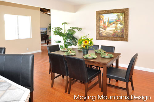 Dining room in Rowland Heights home staging home for sale