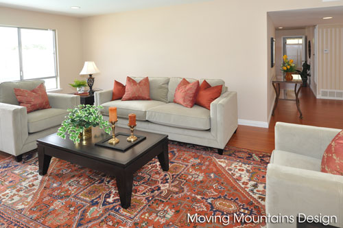 Livingroom in Rowland Heights home staging home for sale