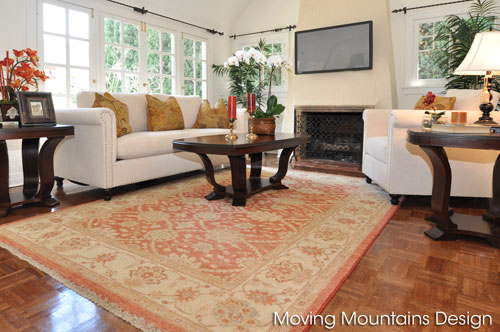 Livingroom of Beverly Hills home staging