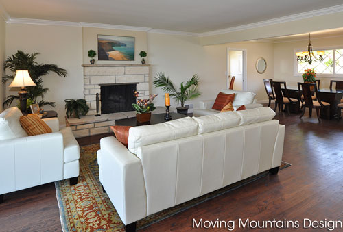 Home staging Redondo Beach living room