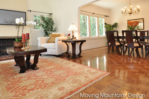 Beverly Hills home staging living room
