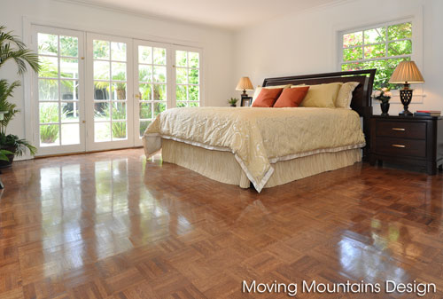 Master bedroom in Beverly Hills home after home staging
